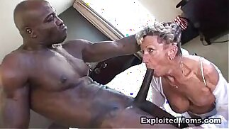 Old Granny takes a big black huge cock in her ass Anal Interracial Video