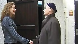 Old man humiliated by a horny femdom mistress