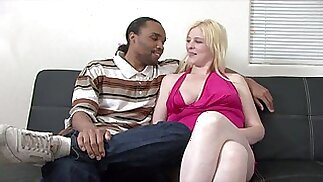 Black BF Todd fucks his lovely pale girlfriend Sparkle missionary