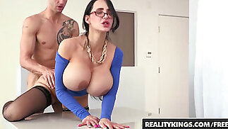 Filthy big tit tutor Amy Anderssen gets fucked by student - Reality Kings