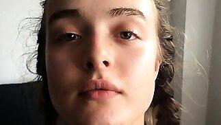 Hottest Amateur Brunette 19yo Teen jerking off on Webcam