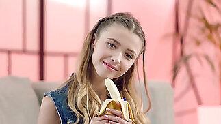 1080p Teenie School Girl Wanks Shaved Cunt To Pussy Spunk